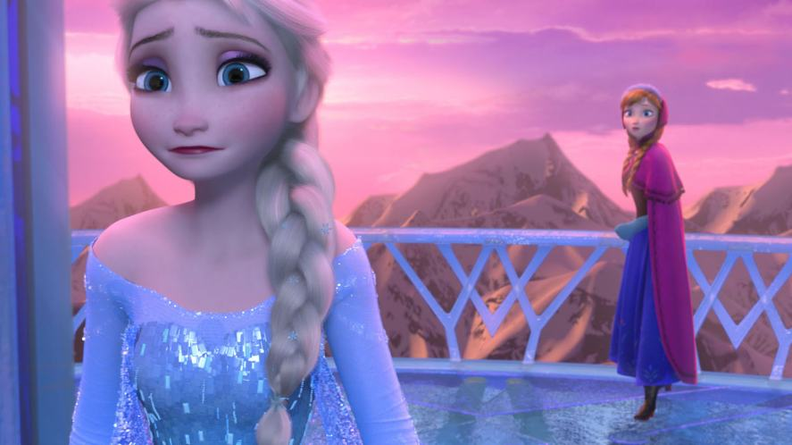 Elsa and her sister in Frozen