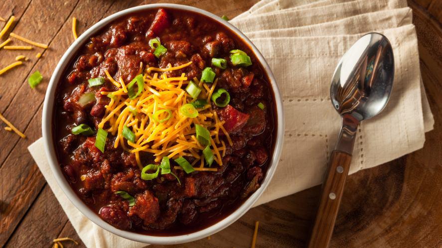 A bowl of chilli con carne