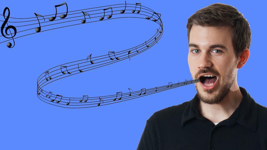 A man burping a pleasant melody