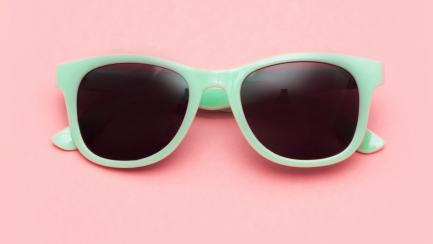 Mint coloured sunglasses