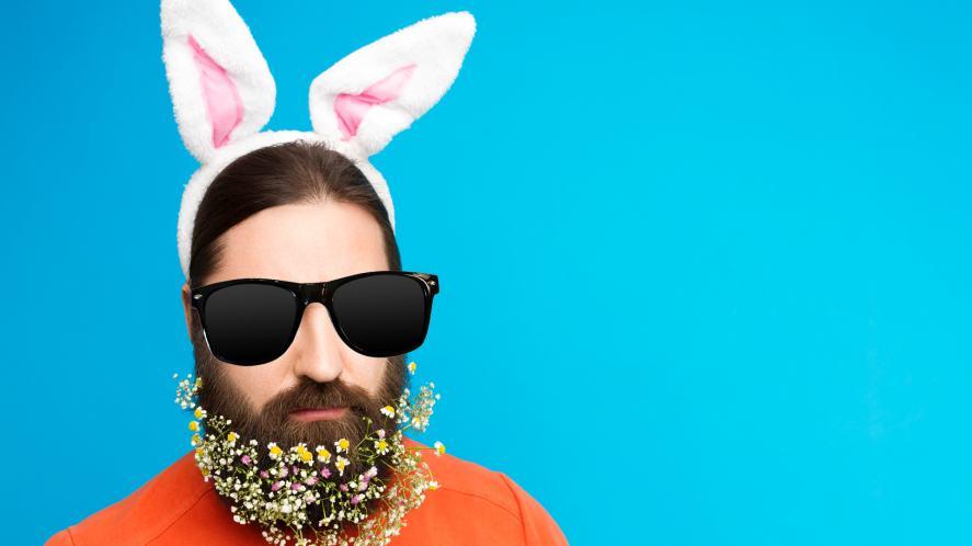 A man dressed as a rabbit