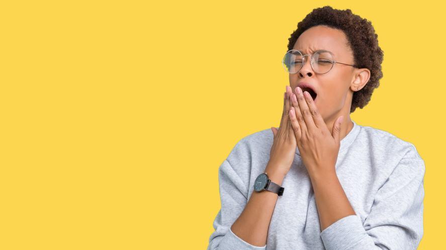 A yawning lady