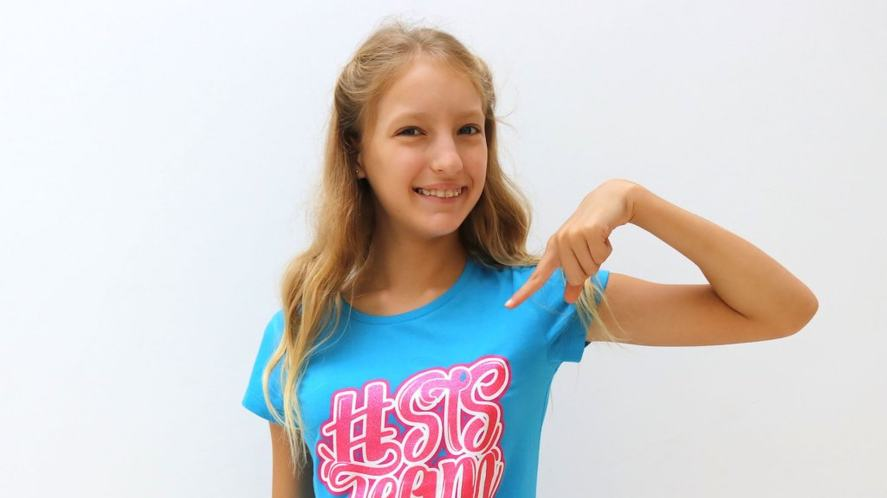 Sis with her #TEAMSIS t-shirt