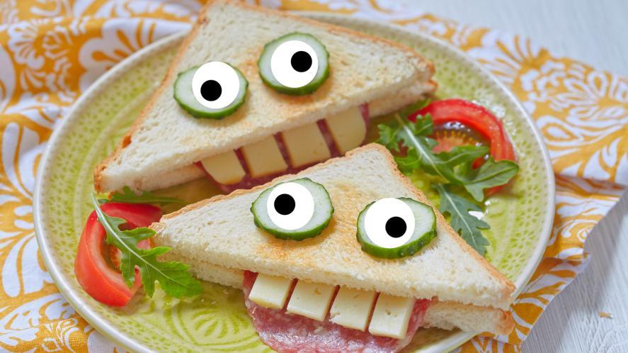 A funny looking sandwich