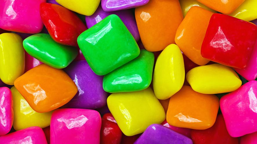 Lots of colourful sweets
