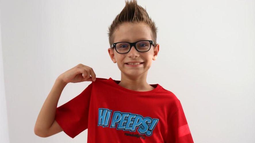Ronald in his Hi Peeps t-shirt