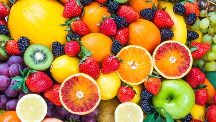 Lots of different types of fruit