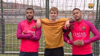 Justin Beiber and FC Barcelona