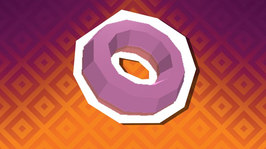 A ring donut