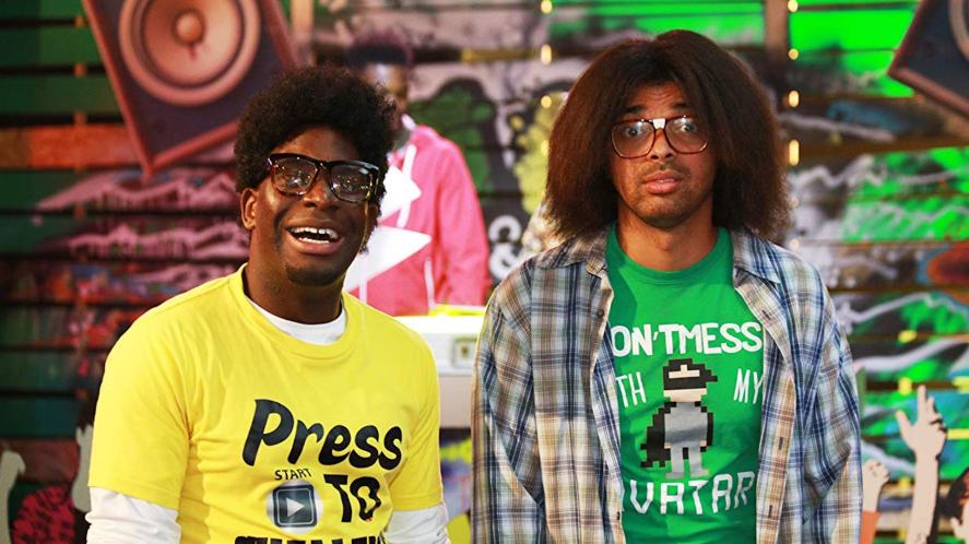 Inel and Johnny in Gamer Geeks
