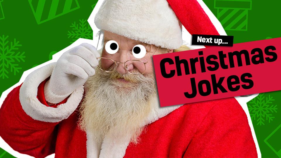 Santa - link to Christmas jokes from Christmas cracker jokes