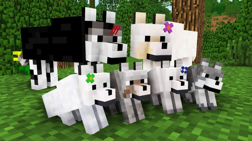 Minecraft dogs