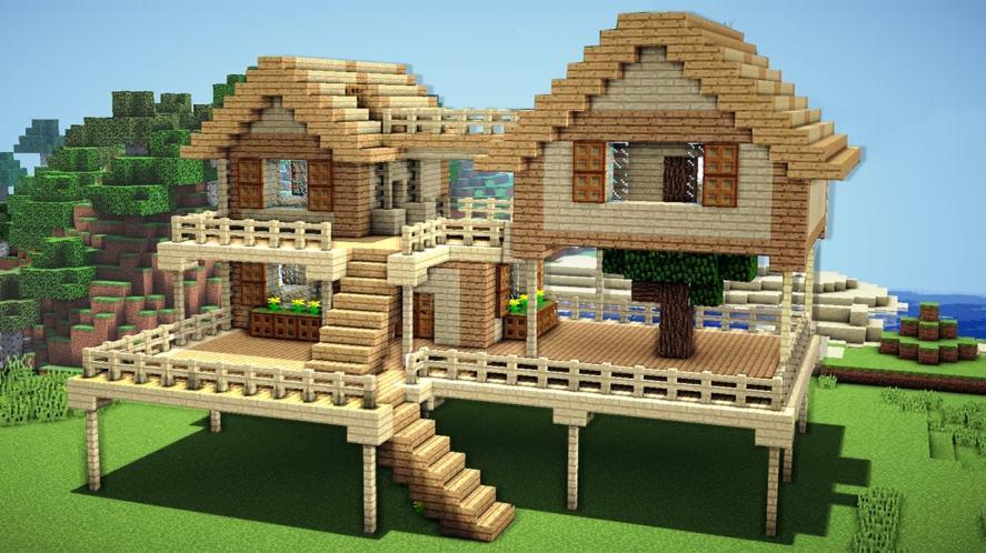 A big Minecraft home