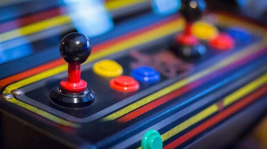An old school arcade machine