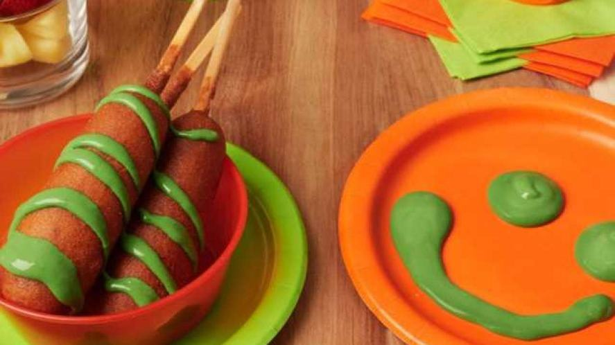 Snacks covered in green slime?