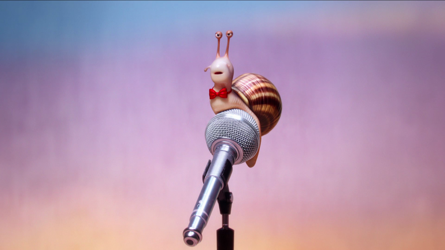 A snail auditions for the singing role