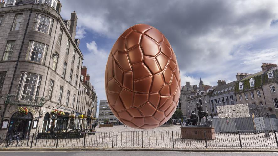 A big Easter egg in Aberdeen