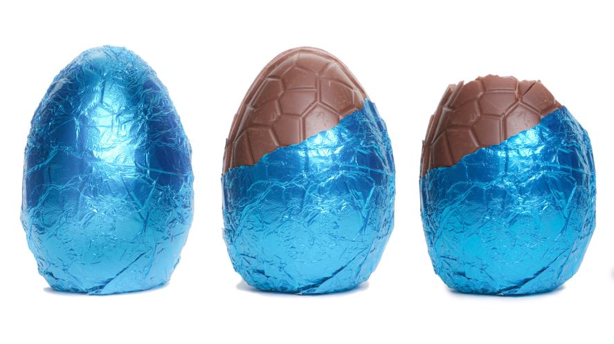 A Easter eggs