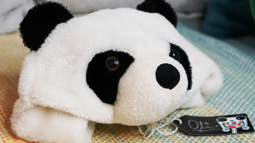Oli's panda hat