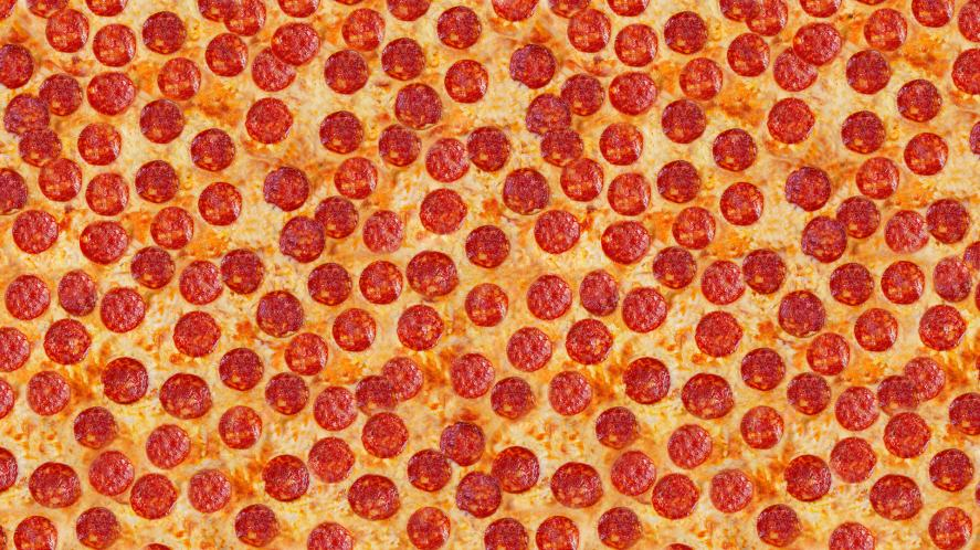 Pepperoni pizza that never seems to end