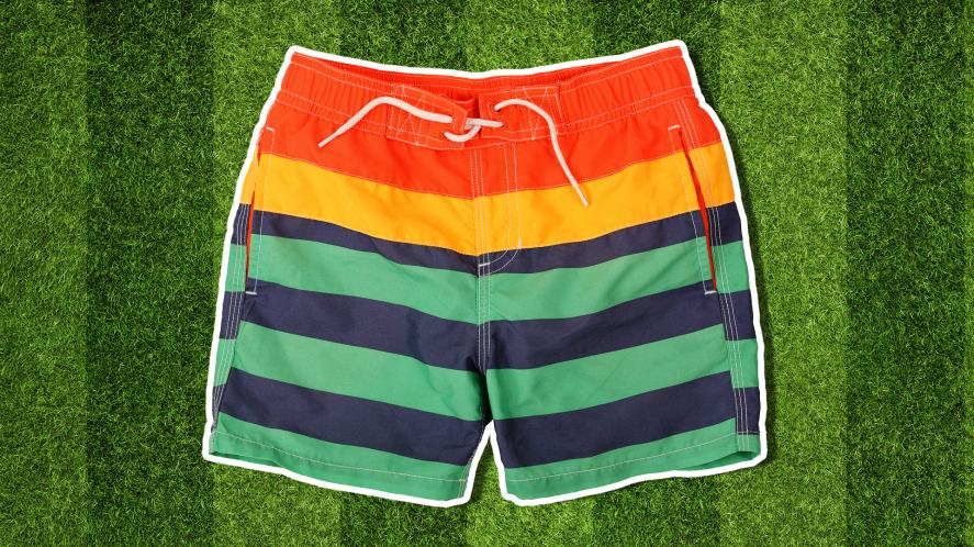 A striped pair of shorts