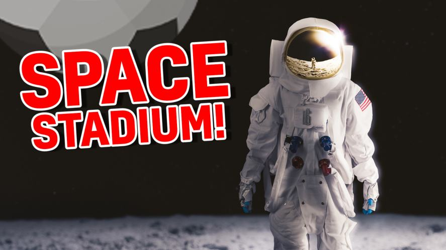 Your team will play in a: SPACE STADIUM!