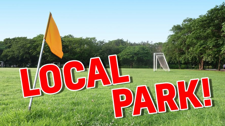 Your team will play in a: LOCAL PARK!