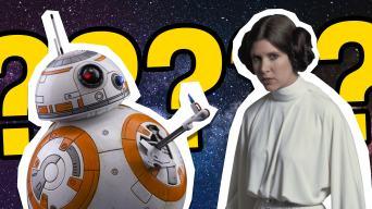 Star Wars' BB-8 and Princess Leia