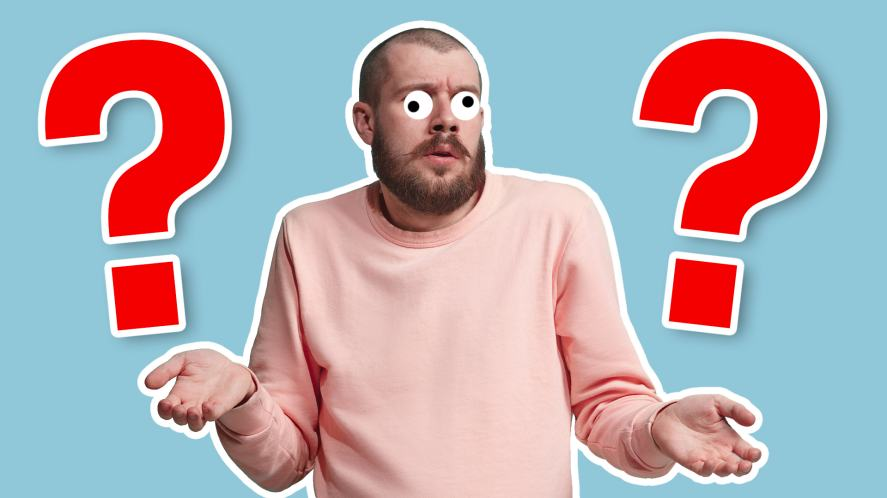 A man shrugging because he has no clue about how much time he spends on YouTube
