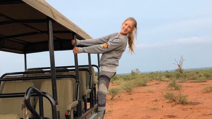 Karina on a safari holiday