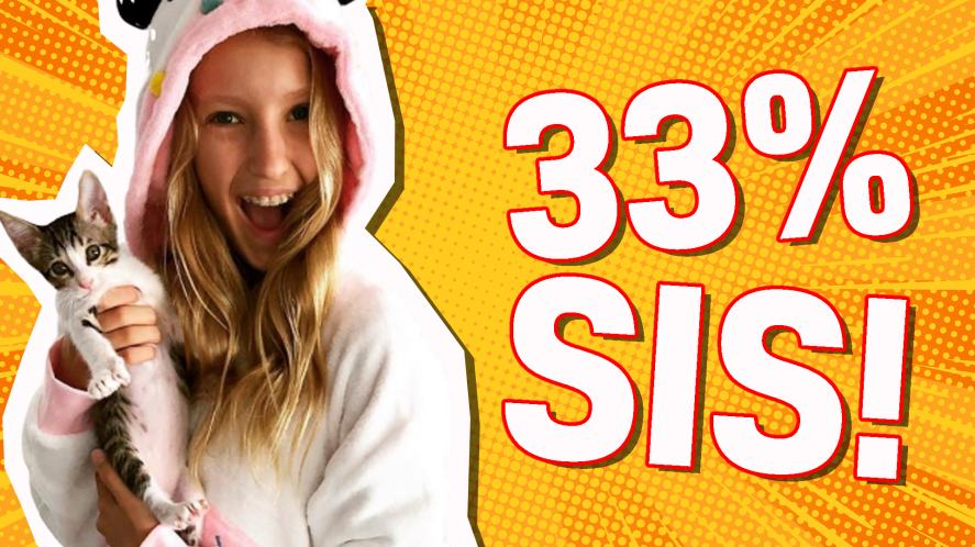 You are: 33% SIS!