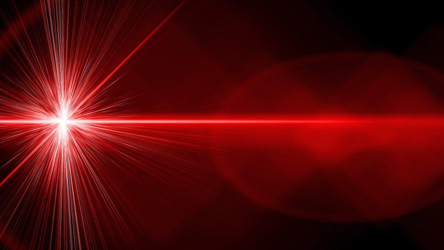 A laser