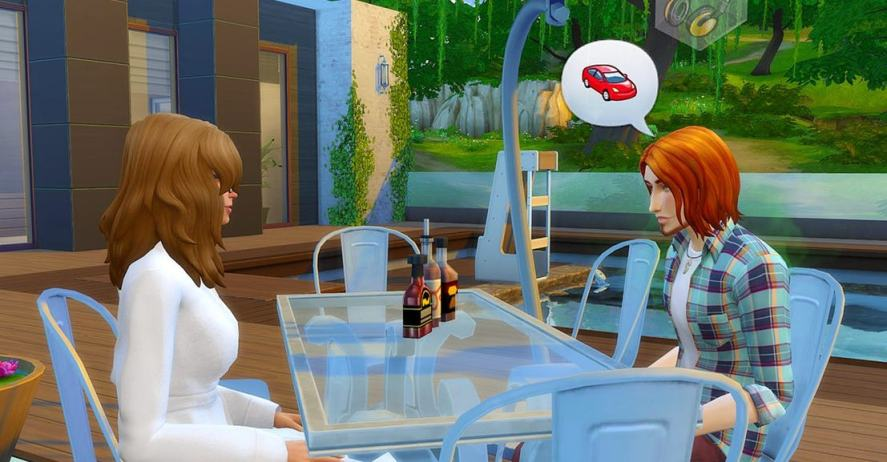 A scene from The Sims
