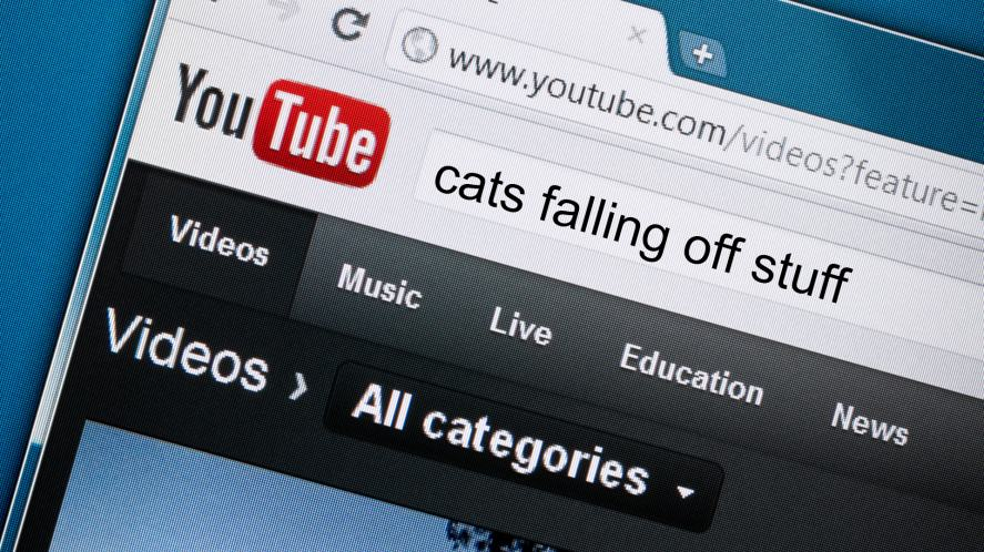A YouTube homepage