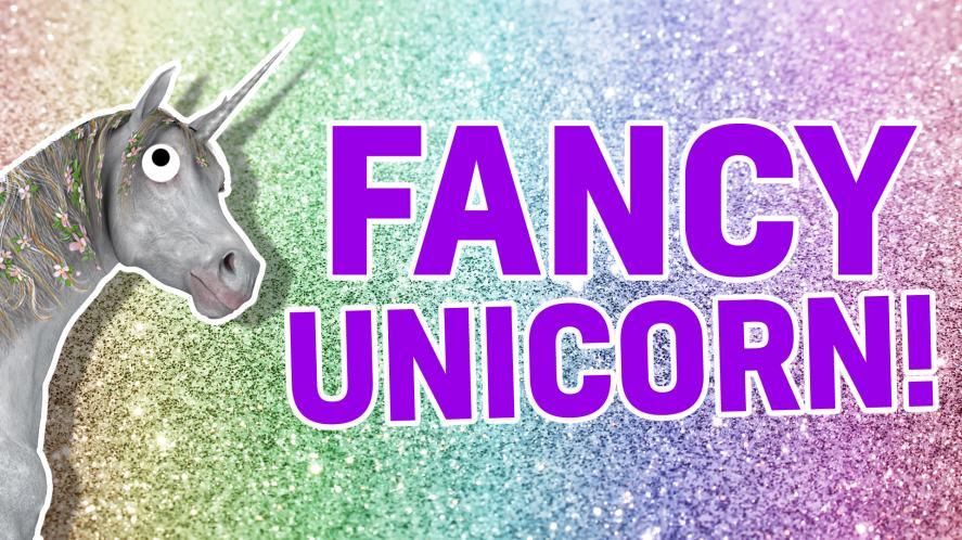 A fancy unicorn