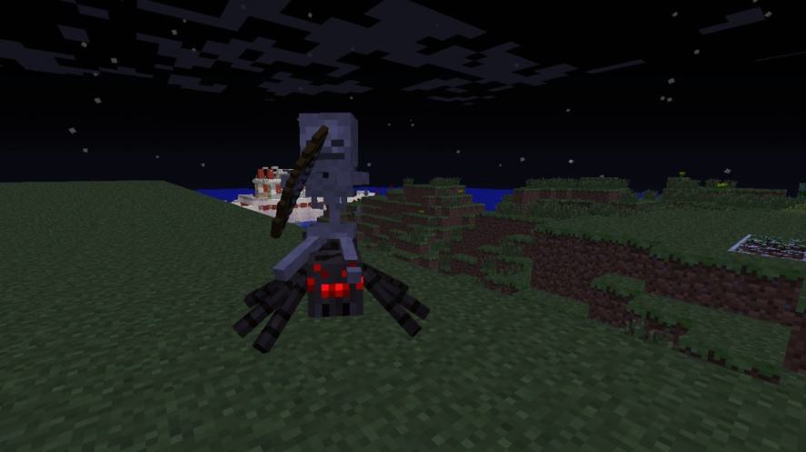 A scary creature in Minecraft