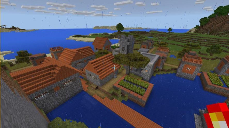 A Minecraft village