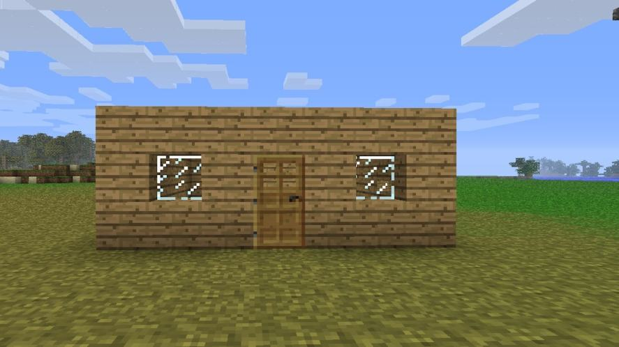 A shelter in Minecraft