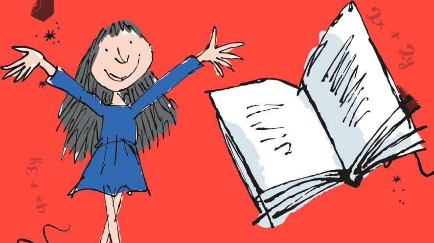 Matilda and a big book
