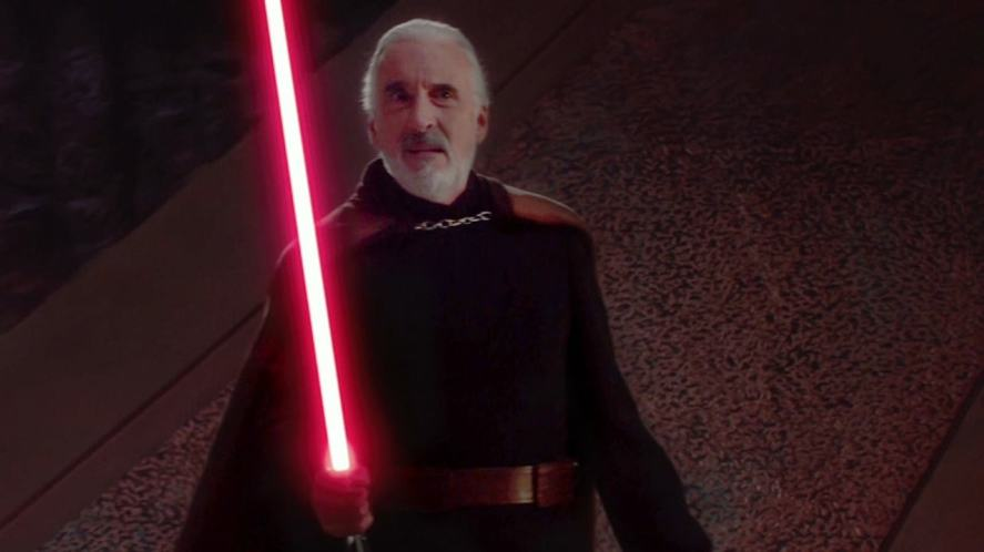 Christopher Lee plays this former Jedi