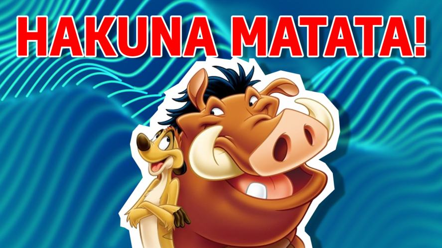 Timon and Pumbaa from The Lion King