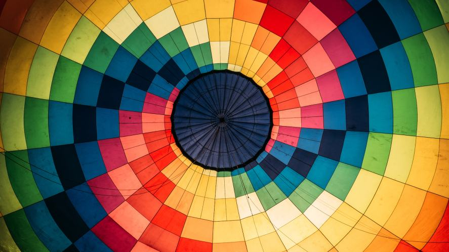 A spiral of colours