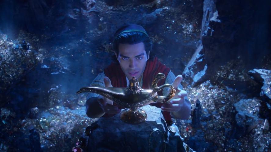 Aladdin discovers a magic lamp