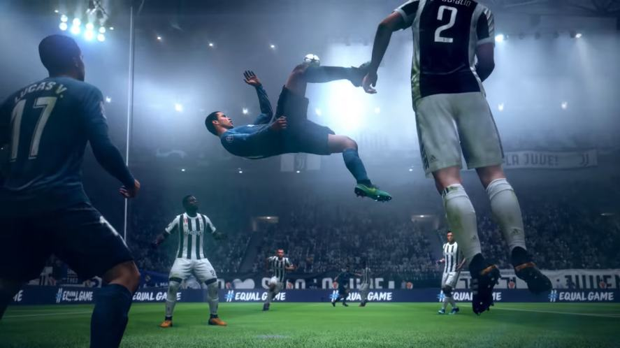 A bicycle kick in FIFA 19