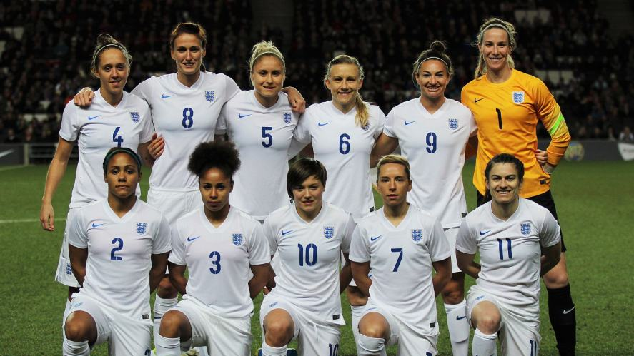 The England team