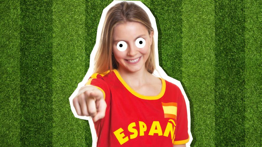 A Spanish football supporter