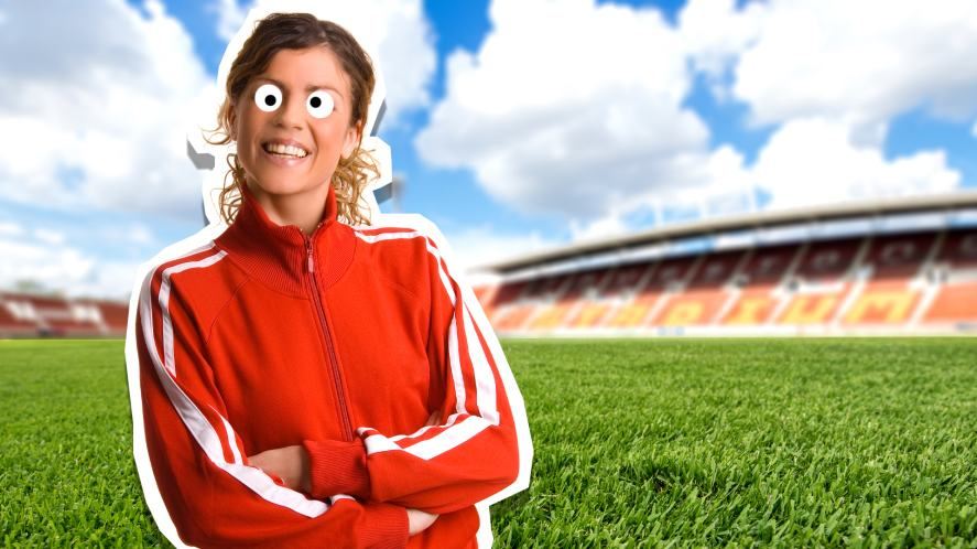 A football manager wearing a tracksuit