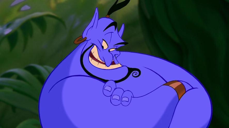 The genie in the original version of Aladdin
