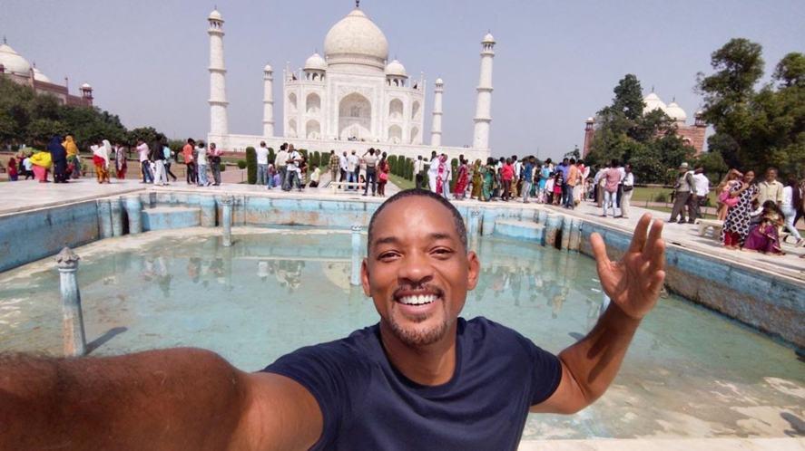 Will Smith at the Taj Mahal