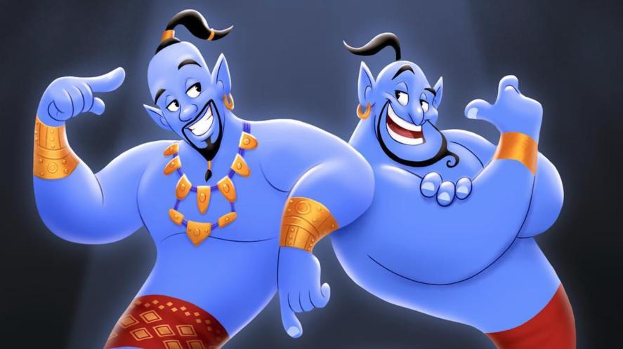 A cartoon of the genies in Aladdin